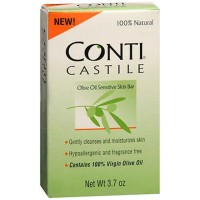 Conti Castile Conti Castile Olive Oil Sensitive Skin Bar Soap, 4 oz (Pack of 2)
