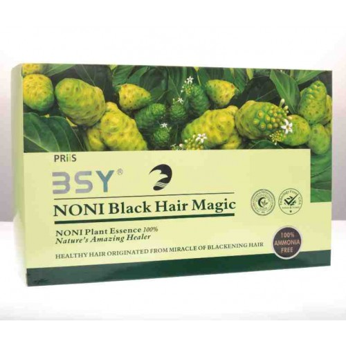 BSY Noni BLACK Hair Magic Shampoo - 10 sachets 20 ml each