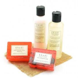 Khadi - Great Indian Rose Nourishment Natural Skin & Hair Care Kit