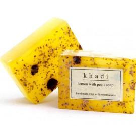 Khadi Lemon with Peels Handmade Soap 125 gm