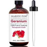 Majestic Pure Geranium Essential Oil, Therapeutic Grade, 4 fl Oz (118 ml)