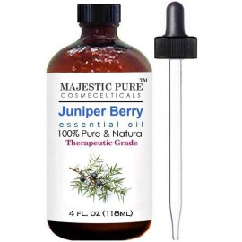Juniper Essential Oil From Majestic Pure, Extracted From Berry, Therapeutic Grade, Pure and Natural, 4 fl oz (118 ml)