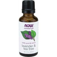 NOW Foods Lavender & Tea Tree Oil, 1 ounce (30 ml)