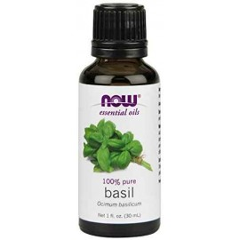 NOW Foods 100% Pure Basil Oil, 1 Ounce (30 ml)