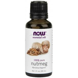 NOW Foods 100% Pure Nutmeg Oil, 1 Ounce (30 ml)