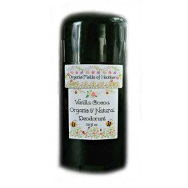 Organic Fields of Heather VANILLA COCOA SCENT Organic & Natural Deodorant, 2.5 fl. Oz