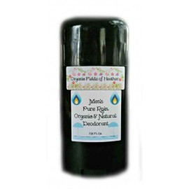 Organic Fields of Heather PURE RAIN Scent Organic & Natural Deodorant for MEN, 2.5 fl. Oz