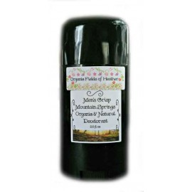 Organic Fields of Heather FRESH MOUNTAIN SPRINGS Scent Organic & Natural Deodorant for MEN, 2.5 fl. Oz