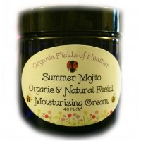 Organic Fields of Heather SUMMER MOJITO Facial Moisturizing Cream 4 oz