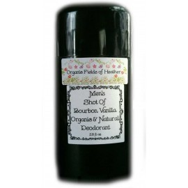 Organic Fields of Heather SHOT OF BOURBON VANILLA Organic & Natural Deodorant for MEN, 2.5 fl. Oz