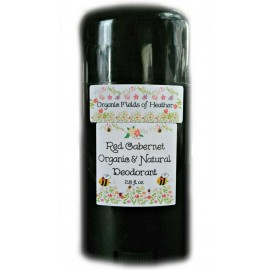Organic Fields of Heather RED CABERNET Scent Organic & Natural Deodorant, 2.5 fl. Oz