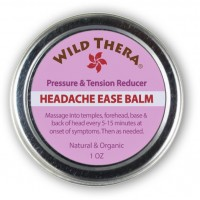 Wild Thera Headache Migraine Relief. Herbal Balm with Essential Oils. Tension Headache, Sinus Headache, Stress Anxiety Relief. Use with Headache hat, Headache Pillow, migraine mask, ice pack, migraine glasses.