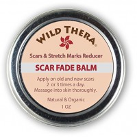 Wild Thera Concentrated Scar Remover for Stretch Marks, Acne Scar Removal, Pregnancy Scars, Surgery Scars, Sun Spots & Pock Marks. Herbal Scar Cream with Coconut Oil, Shea, Cocoa Butter, Jojoba Oil, Avocado Oil.
