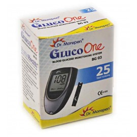 25 TEST STRIPS for Dr. Morepen GlucoOne Blood Glucose Monitoring System BG-03