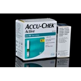 Accu-Chek Active 100 Test Strips with 25 Lancets
