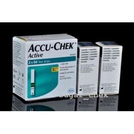 Accu-Chek Active 100 Test Strips with 50 Lancets