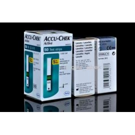 Accu-Chek Active 50 Test Strips with 50 Lancets
