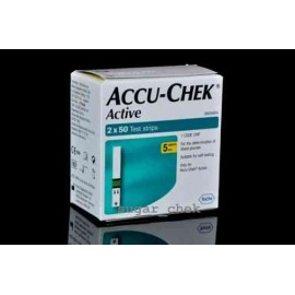 100 Test Strips for Accu-Chek Active Glucometer