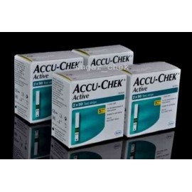 Accu-Chek Active 400 Strips with Manufacturer Warranty, 8*50 Strips, 4 Code Chip
