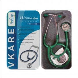 Dual-Bell Stethoscope - Ultima Duo - Green