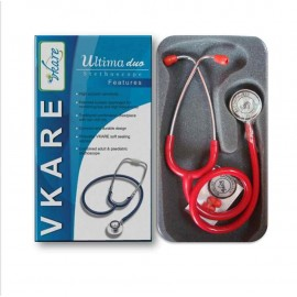 Dual-Bell Stethoscope - Ultima Duo - Red