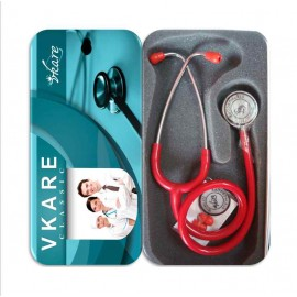 Deluxe Stethoscope - Classic - Red