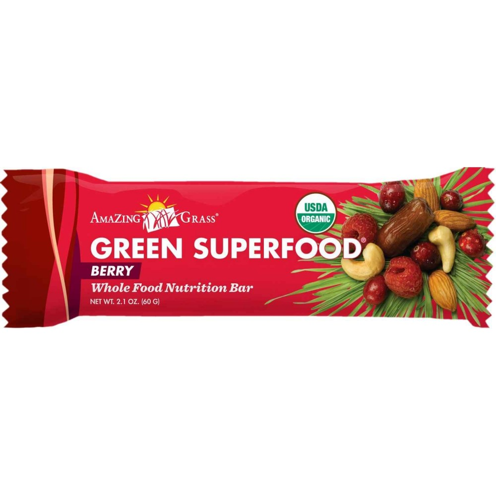 Buy amazing grass organic green superfood berry energy bar for Superfood bar
