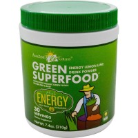 Amazing Grass Green SuperFood Energy Drink Powder Lemon Lime - 7.4 oz (210 gm)