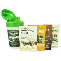 Amazing Grass Meal Shaker Cup with 4 Single Serving Packets