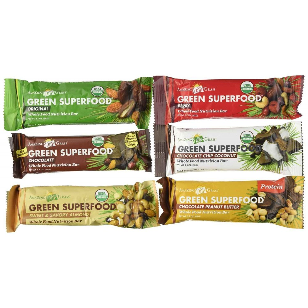 Buy amazing grass superfood bar variety pack of 12 for Superfood bar