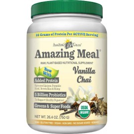 Amazing Grass Amazing Meal Vanilla Chai, 30 servings, 26.4 Ounces (750 gm)