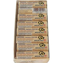 American Health Original Papaya Enzyme - 16 Rolls, 12 Chewable Tablets each