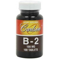 Carlson Labs Vitamin B-2, 100mg, 100 Tablets