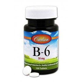 Carlson Labs Vitamin B-6, 50mg, 100 Tablets