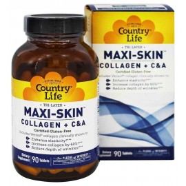 Country Life MAXI-SKIN Collagen + C & A, 90 Tablets
