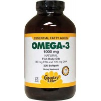 Country Life OMEGA-3 Fish Body Oils 1000 mg 300 Softgels