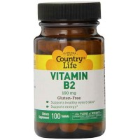 Country Life Vitamin B-2 100 Mg, 100 Tablets