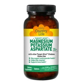 Country Life Target Mins MAGNESIUM / POTASSIUM / ASPARATE 180 Tablets