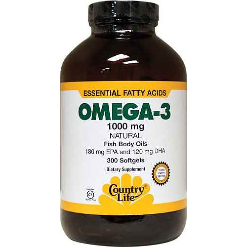 Buy country life omega 3 fish body oils 1000 mg 100 for Fish with omega 3