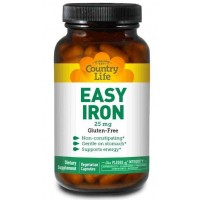 Country Life EASY IRON 25 mg 90 Veg Capsules