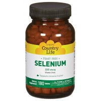 Country Life SELENIUM 100 mcg Yeast Free 180 Tablets