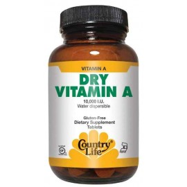 Country Life Dry Vitamin A 10000 IU 100 Tablets