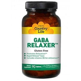 Country Life GABA Relaxer 90 Tablets - Relaxation