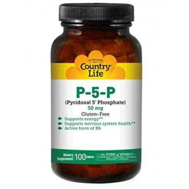 Country Life P-5-P (Pyridoxal Phosphate) 50 mg, Vitamin B6, 100 Tablets