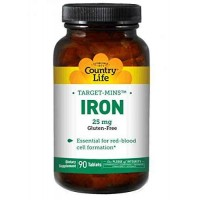 Country Life IRON 25mg 90 Tablets