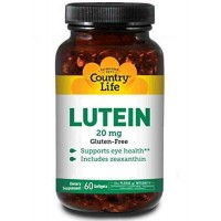 Country Life LUTEIN 20 mg 60 Softgels - Eye Health
