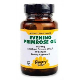 Country Life EVENING PRIMROSE OIL, 500 mg, 60 Softgels