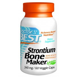 Doctor's Best Strontium Bone Maker (340mg Elemental) Veg Capsules