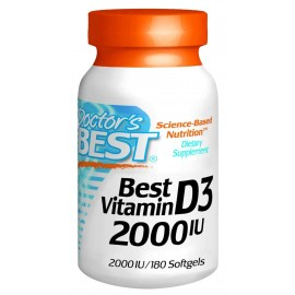Doctor's Best Vitamin D3 2000iu Softgels (180)