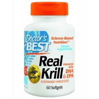 Doctor's Best Real KRILL Enhanced with DHA and EPA 60 Softgels